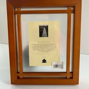 Mission style wood picture frame